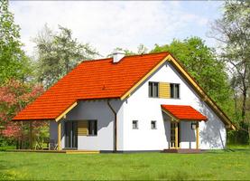 BIES-Bis  - ekologiczny dom z drewna o powierzchni 124,9 m2