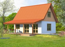 DREW 52  - drewniany dom o powierzchni 62,2 m2