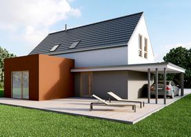 L0 6x11,4 + gab  - dom energooszczędny o powierzchni 122,2 m2