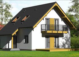 OLO-Bis  - dom energooszczędny o powierzchni 110,8 m2
