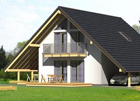 BAT Duży  - drewniany dom o powierzchni 118,0 m2