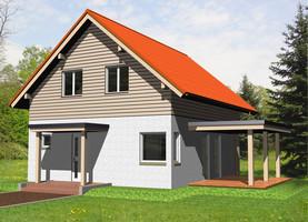 BAT Mały  - dom energooszczędny o powierzchni 96,0 m2