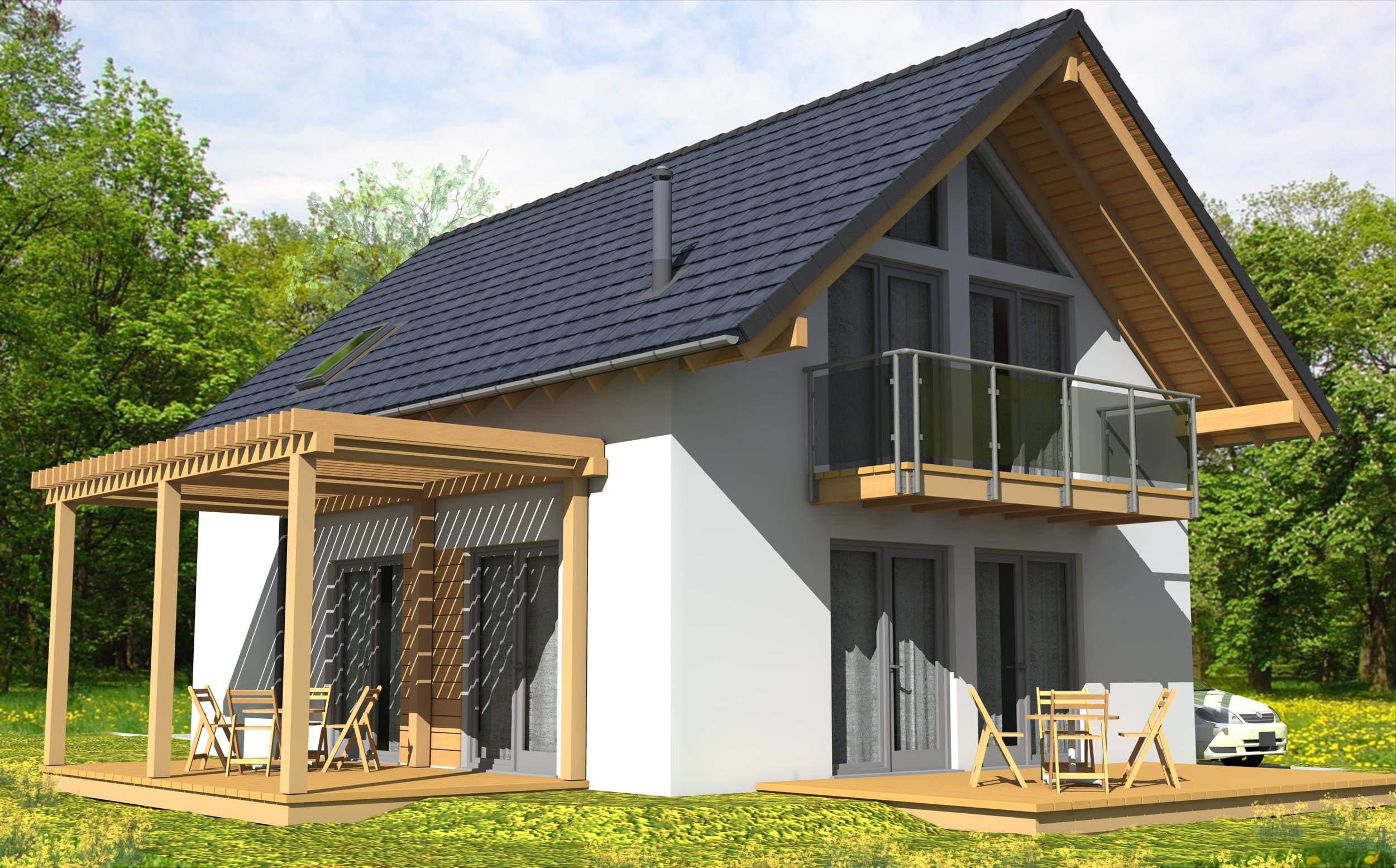 BAT Średni  - drewniany dom o powierzchni 103,8 m2