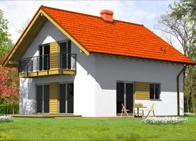 BIES  - dom energooszczędny o powierzchni 110,4 m2