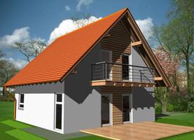BIL M-40  - ekologiczny dom z drewna o powierzchni 103,2 m2