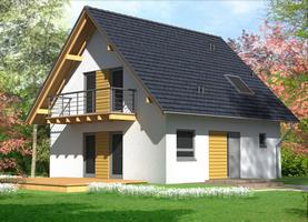 BIL S-40  - ekologiczny dom z drewna o powierzchni 95,7 m2