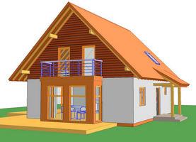 BIL XL-45-weranda  - ekologiczny dom z drewna o powierzchni 117,2 m2