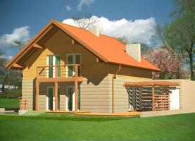 BINGO  - drewniany dom o powierzchni 144,6 m2