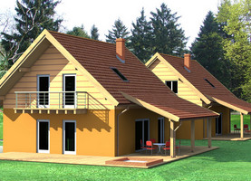 BOLO bliźniak – mały  - dom energooszczędny o powierzchni 109,2 m2 + 21,1 m2