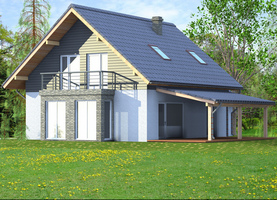 BOLO z werandą  - dom energooszczędny o powierzchni 110,7 m2