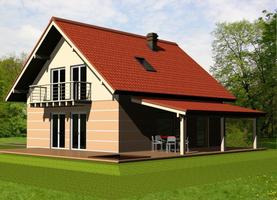 BOLO  - drewniany dom o powierzchni 110,7 m2
