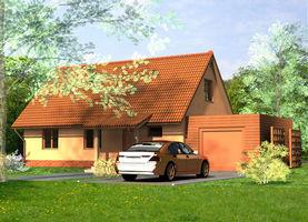 DANA S z garażem  - dom energooszczędny o powierzchni 75,2 m2 + 19,0 m2
