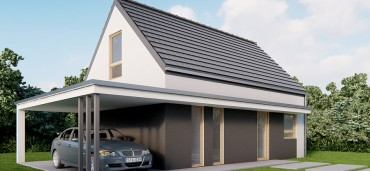 nowoczesny dom ekologiczny -  L0  6×9 – powierzchnia: 73,0 m2 od 159 tyś. zł