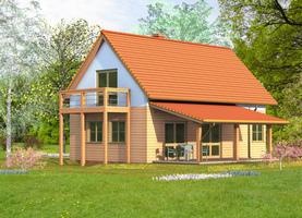 DREW 45  - drewniany dom o powierzchni 96,2 m2