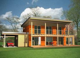FINK-Bis  - ekologiczny dom z drewna o powierzchni 134,7 m2
