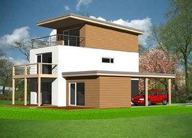 MODEL  - ekologiczny dom z drewna o powierzchni 146,2 m2