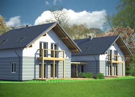 BINGO bliźniak  - dom energooszczędny o powierzchni 144,6 m2