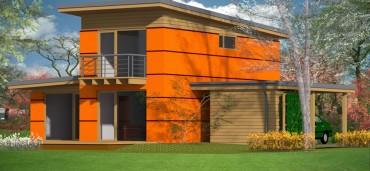 DOM BOX  - dom energooszczędny o powierzchni 77,3 m2