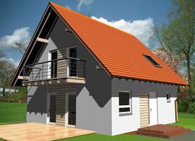 BIL S-45  - ekologiczny dom z drewna o powierzchni 88,2 m2