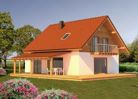 OLO z garażem  - dom energooszczędny o powierzchni 138,0 m2 + garaż 28,2 m2