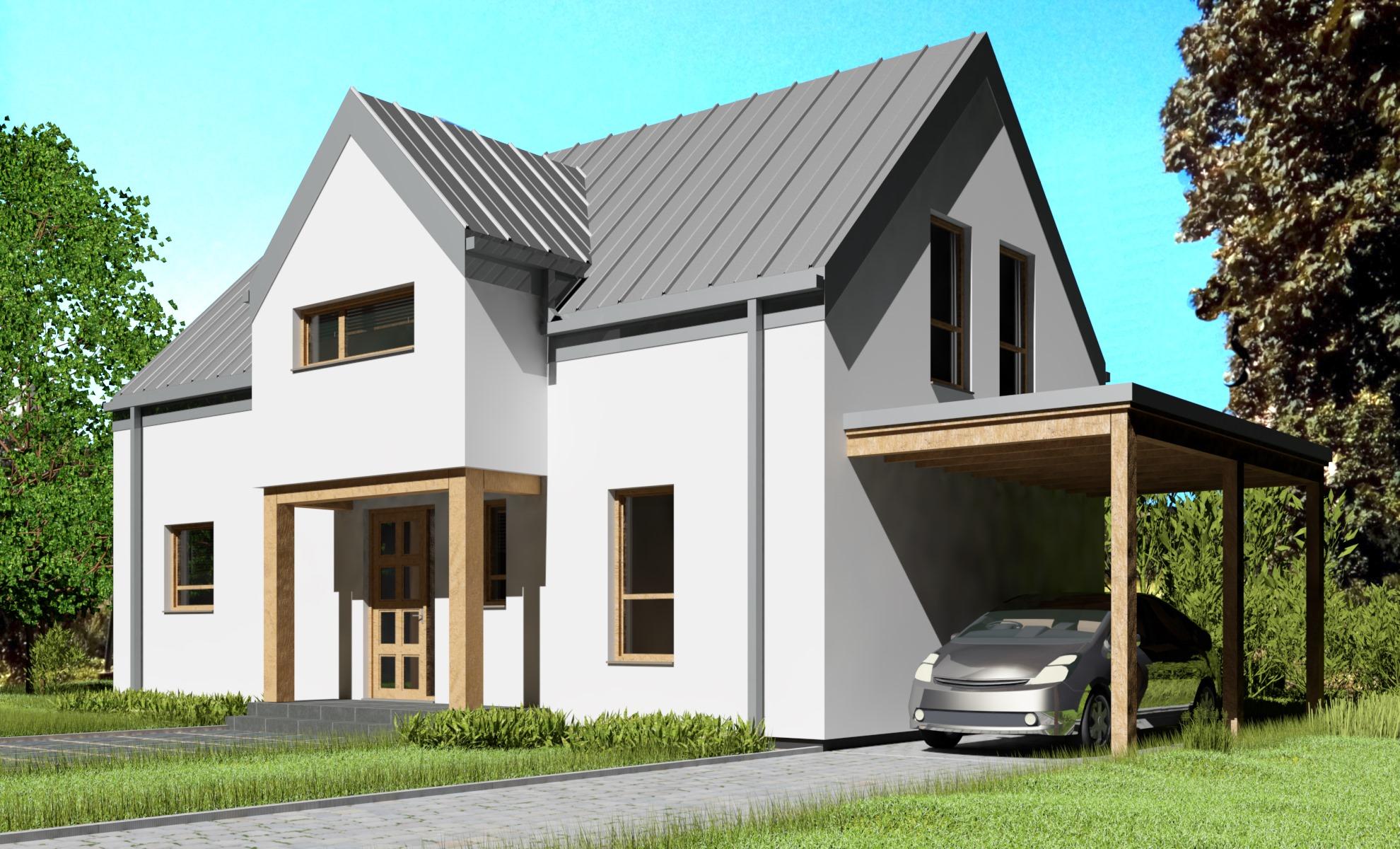 L0 6x12 (6 pokoi)  - dom energooszczędny o powierzchni 120,7 m2