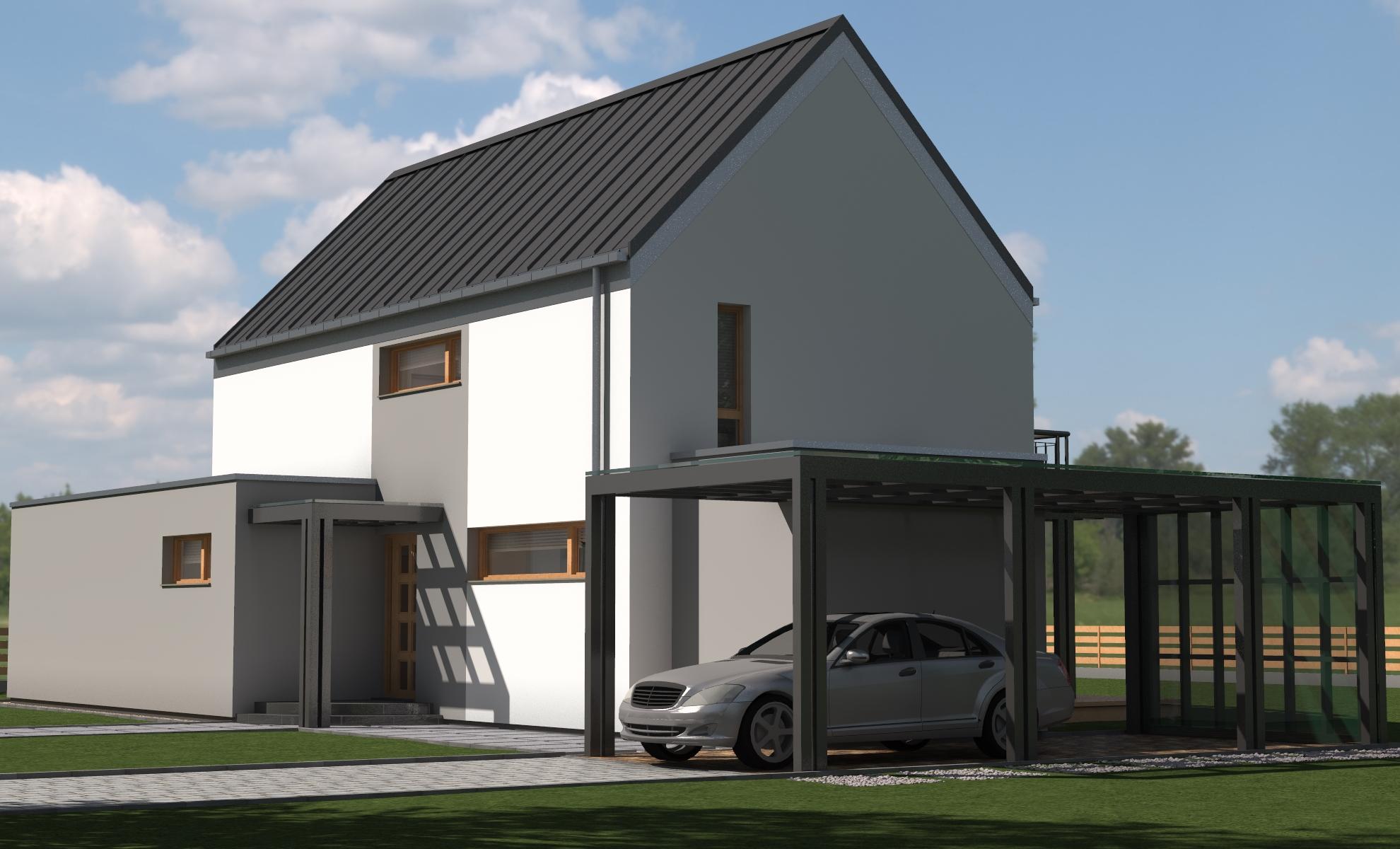 Dom BREK  - dom energooszczędny o powierzchni 166,8 m2