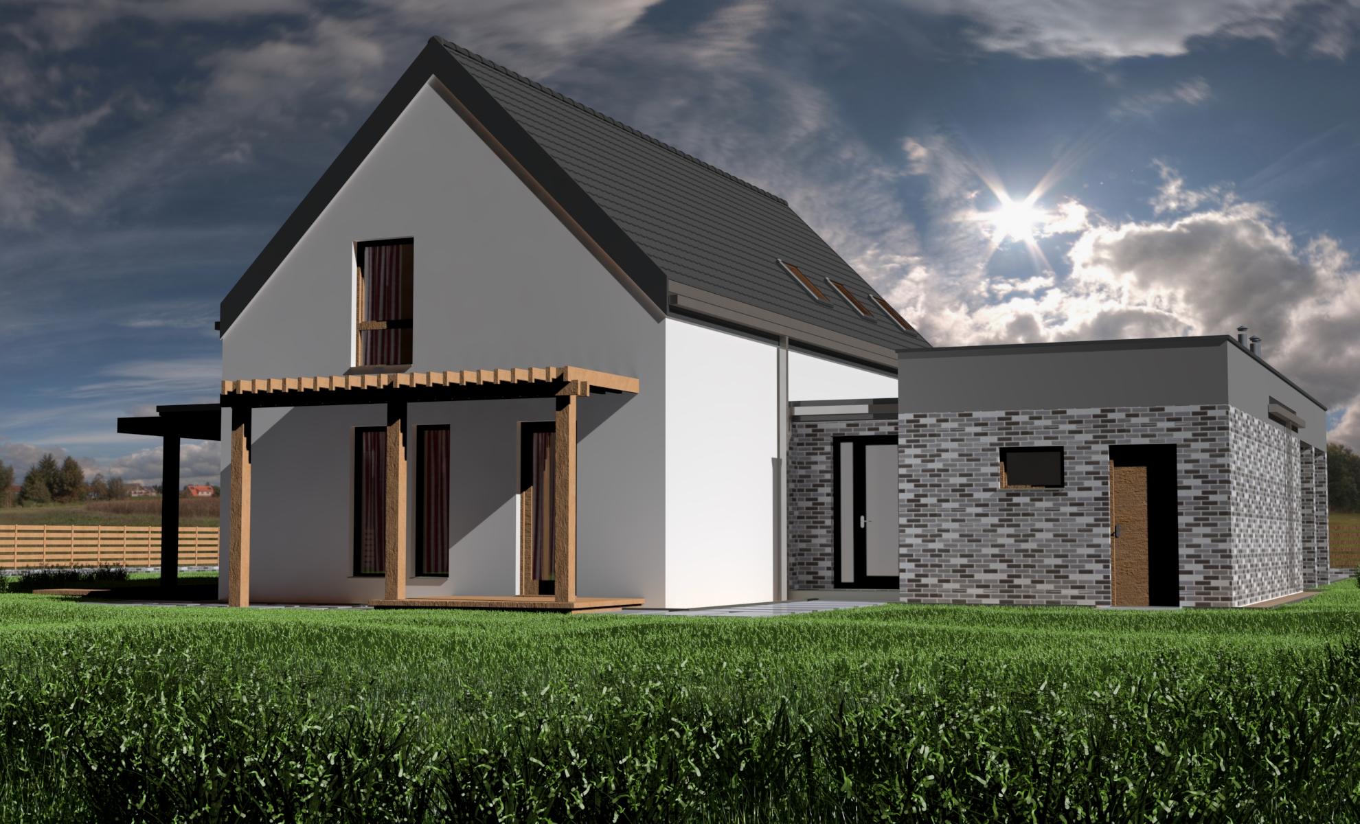 Dom KRĘPY  - dom energooszczędny o powierzchni 185,5 m2